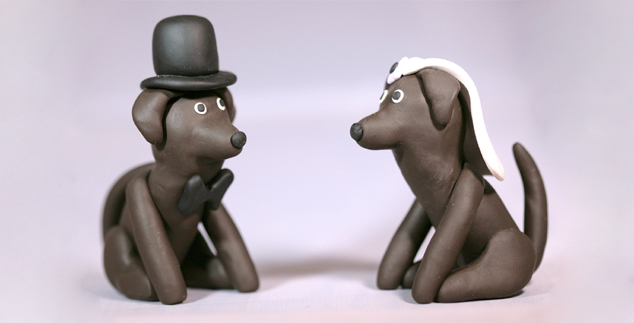 Chocolate Lab Wedding or Bridal Shower Favors to Make